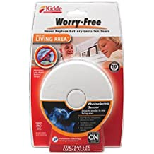 Kidde P3010L Worry-Free Living Area Photoelectric Smoke Alarm with 10 Year Sealed Battery
