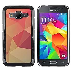 LECELL--Funda protectora / Cubierta / Piel For Samsung Galaxy Core Prime SM-G360 -- Peach Lollipop Pattern Wallpaper --