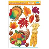 Thanksgiving Clings Party Accessory (1 count) (11/Sh)