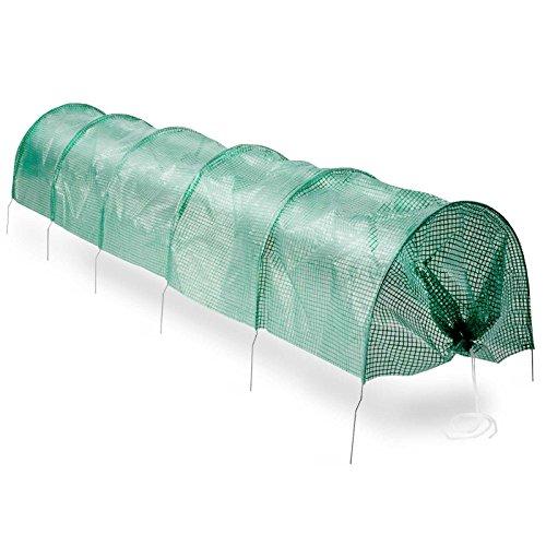 casa pura® Pflanztunnel Floris | effektiver Schutz & ideale Wachstumsbedingungen für Pflanzen | 300x65x45cm