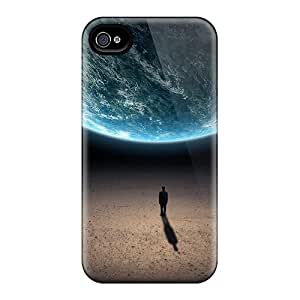 High Grade Jamiemobile2003 Cases For Iphone 4/4s - Outer Space Planets Earth Human