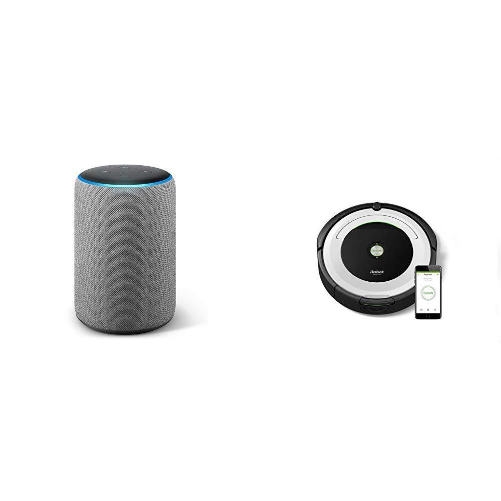 Echo Plus gris oscuro + iRobot Roomba 691- Robot aspirador...