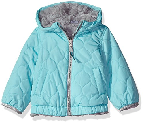 b5d57e76b London Fog Baby Girls Reversible Quilted Jacket With Hood