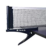 Kioos Collapsible Table Tennis Net Professional Steel Pingpong Net Clip Grip Mesh Training Competition Portable Tension Adjustable Post (Navy Blue)
