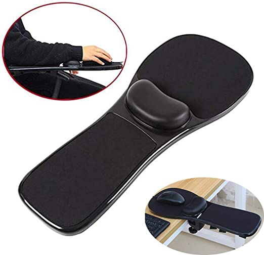 Ergonomic Arm Rest Adjustable Mouse Pad with Wrist Support Gel Armrest Wrist Rest Attachment Arm Pad for Chair Home /& Office