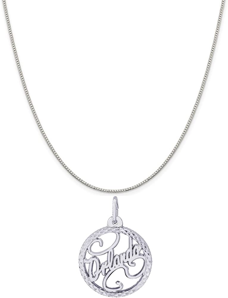 Box or Curb Chain Necklace 18 or 20 inch Rope Rembrandt Charms Sterling Silver Cable Golden Gate Bridge Charm on a 16