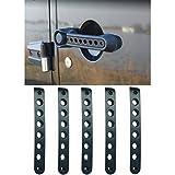 E-cowlboy Front Door & Back Door Aluminum Grab Handle Cover For 2007 - 2016 Jeep Wrangler JK & Unlimited 4 Door 5pcs/set (Black)