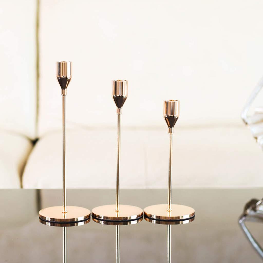 Eisen Lagand Eleganter Kerzenst/änder Schlichtes Design Hochzeit Dekoration Clubs Party Home Ornament Gold S: app.8cmx18cm//3.15inx7.09in