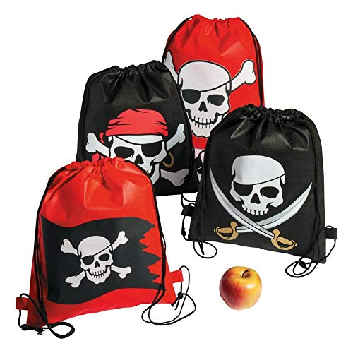 Pirate Drawstring Bags - 12 pc