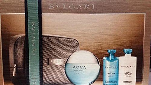 Bvlgari Aqua Marine Gift Set : 3.4 EDT + after shave balm...