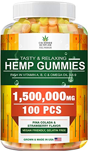 Premium Gummies – 2,500,000 MG, Maximum Strength – 90 cts – Anxiety, Pain, Stress, Nausea, Inflammation Support…