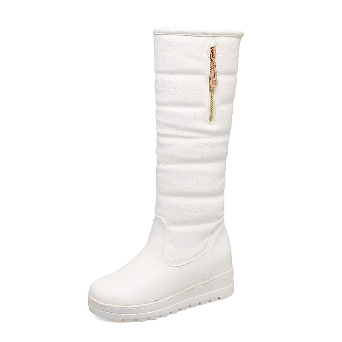A 39EU DANDANJIE Femmes Les Les dames Bottes de Neige Wedge Talon Mollet Bottes Hiver Chaud sans GlisseHommest Chaussures Bottes,A,30EU