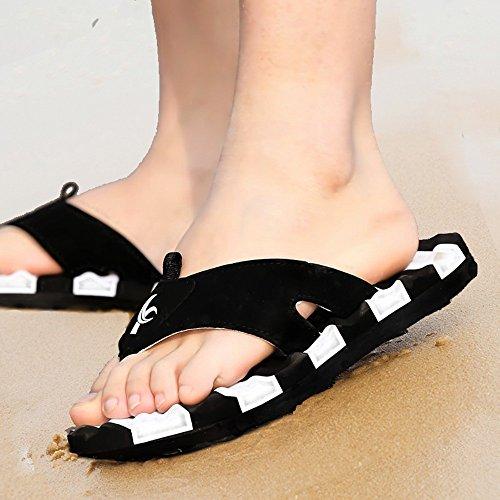 XIAOLIN Zapatillas de marea de verano marea para hombre Sandalias y zapatillas Zapatillas de deporte antideslizantes y antideslizantes para exteriores Pinch Beach Summer Zapatillas de hombre (varios c 04