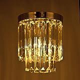 Crystal Chandelier, Letsun Pendant Lamp Flush Mount Fixture Lighting Ceiling Lamp for Hallway, Bedroom, Living Room, Kitchen, Dining Room, Entrance, Corridor