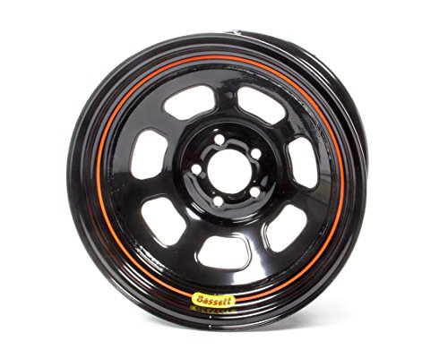BASSETT 57SN3 Wheel 15x7 5x100mm D- Hole 3in BS Black by Bassett