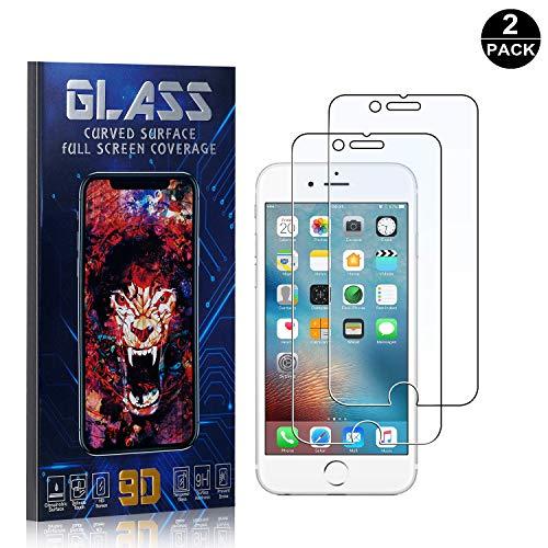 iPhone 6 Plus / 6S Plus / 7 Plus / 8 Plus Screen Protector Tempered Glass, Bear Village Scratch Resistant HD Screen Protector Film for iPhone 6 / 6S / 7/8-2 Pack