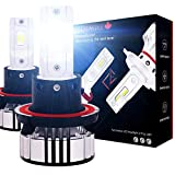 LED EAGLE DiamondVision H13/9008 Dual Hi&Lo Beam LED Headlight Bulbs All-in-One Conversion Kit 72W 12000LM 6500K Diamond Bright Cool White for All Japanese Cars, 2010 and Older Dodge, RAM, Ford, Chrysler, Chevy, GMC, VW and More