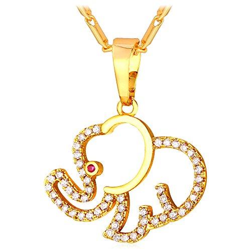 Elephant Pendant Necklace Amulet Jewelry