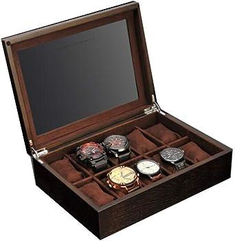 Cajas de Reloj for hombres-10 Relojes Ranuras, Hebilla de Metal ...
