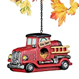 Collections Etc Vintage Firetruck Birdhouse Outdoor Garden Décor