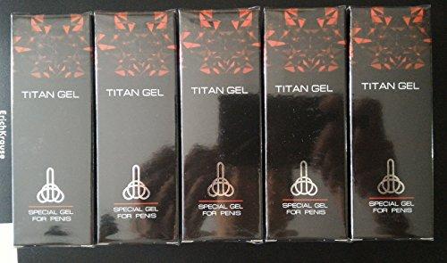 TITAN GEL INTIMATE LUBRICANT GEL FOR MEN 5 pack by Hendel` s Garden