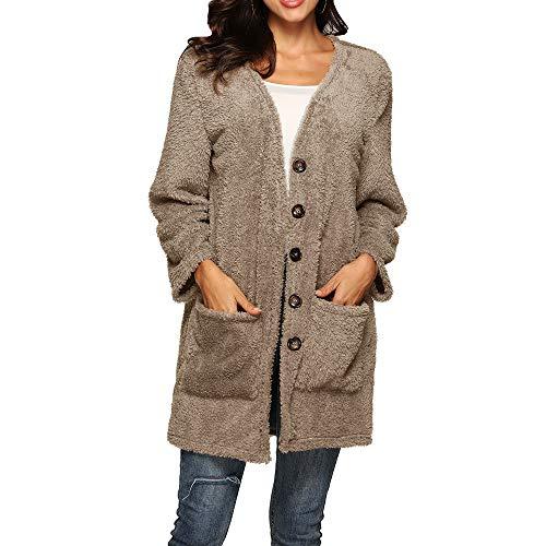Outwear Jacket Caldo Con Camicetta Cachi Lana Trench Da Donna Invernale Cappuccio Elecenty Mantieni Elegante wagA1x