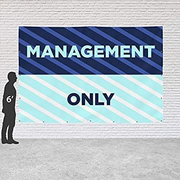 Under New Management 8x8 CGSignLab Basic Teal Heavy-Duty Outdoor Vinyl Banner