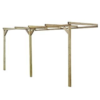 SENLUOWX Pérgola de madera con techo inclinado, 2 x 4 x 2,2 m