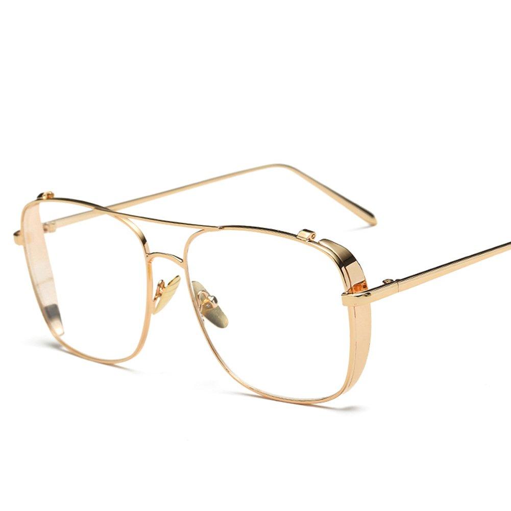 Men Square Glasses Metal Frame Eyeglasses Women 2018 Fashion