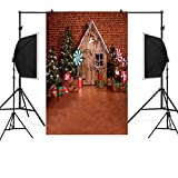 Yaida Christmas Backdrops Snow Vinyl 3x5FT Background Photography Studio (A)