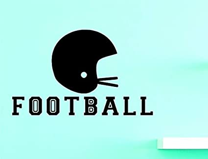 Amazoncom Profit Decal Football Art Inches Color Black