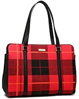 Kate Spade WKRU4005 616 Miles Newbury Lane Plaid Tote Bag