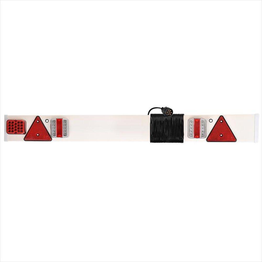 R/ückleuchte Anh/änger Lampenbrett Nebelschlussleuchte und 6 Meter Anschlusskabel