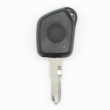 Carcasa para llave de coche con 1 botón, para Peugeot 106 ...