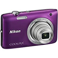 Nikon Coolpix S2800 20.1 MP Point and Shoot Digital Camera with 5x Optical Zoom (Purple) International Version No Warranty