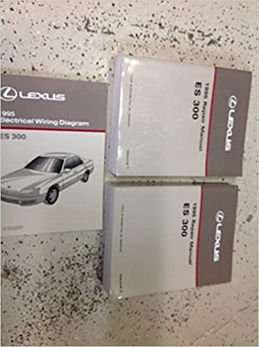 1995 lexus es300 es 300 service shop repair manual set w wiring diagram:  toyota: amazon com: books