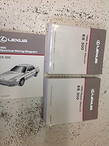 1995 lexus es300 es 300 service shop repair manual set w wiring