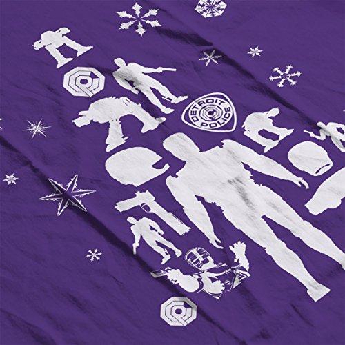 Christmas Men's Robocop Tree Purple white Jacket Varsity Silhouette wzwPO