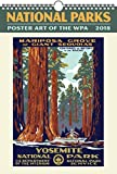 National Parks WPA Poster Art Oversize Wall 2018 Calendar
