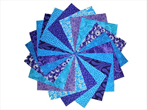 s of Purple and Blue Charm Pack-10 different patterns/colors-4 of each (Quilting Material)