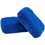 Chemical Guys MIC29602 Monster Fluff Exterior Premium Microfiber Applicator, Blue (Pack of 2)