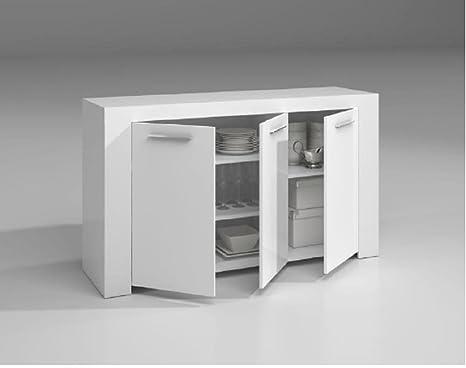 Credenza Per Cucina Bianca : Kit mobile credenza 3a ambit cm.144x42x80h bianca: amazon.it: casa e
