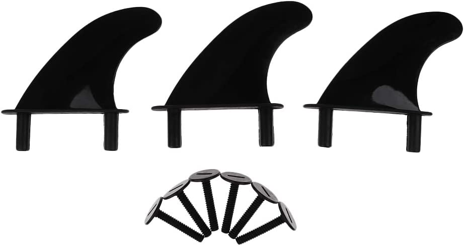Performance 3Pcs Soft Top Surfboard Fins Replacement 6 Bolts for Softboard