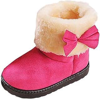 ZEZKT Bottines pour Bébé Bébé Bottines Peluche Intérieur Baskets Chaussures de Bébé Antidérapant Bébé Mode Bottines Chaud pour Enfants Occasionnel Chaussures Hiver