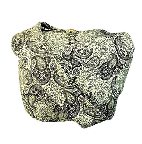 BTP! Thai Cotton Hippie Hobo Sling Crossbody Bag Messenger Purse Paisley Print Large (Light Olive PL25) ()