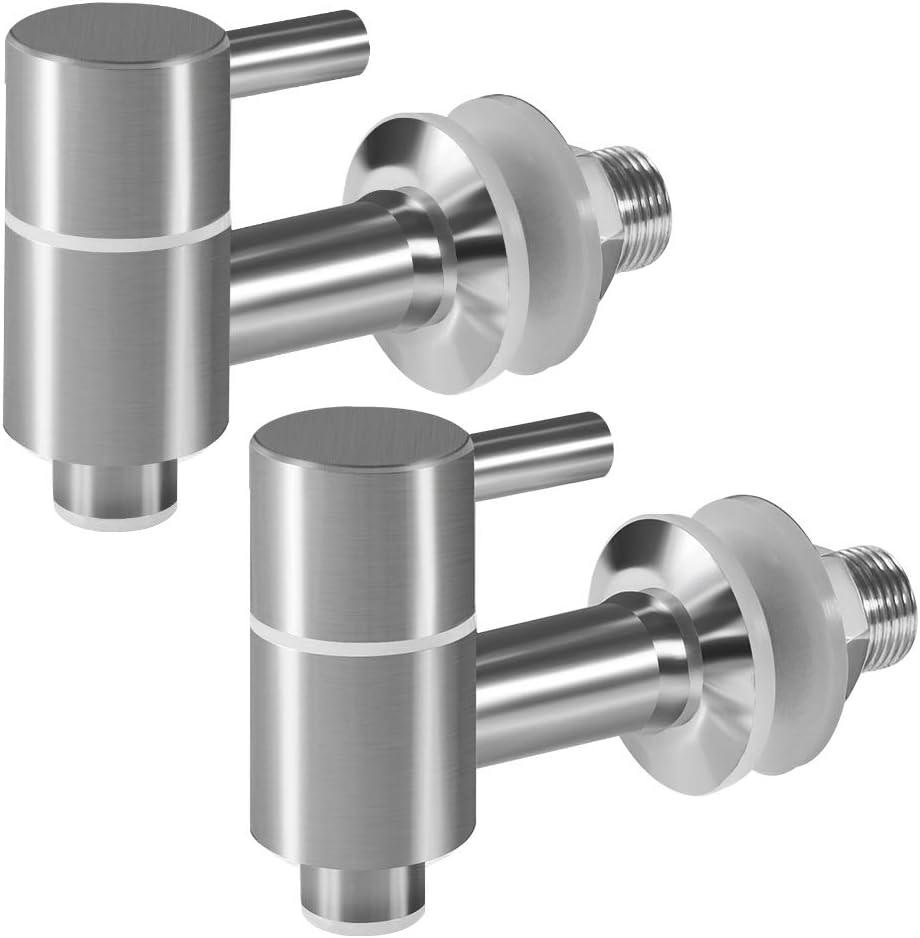 Amytalk 2 Pack Beverage Dispenser Replacement Spigot, Stainless Steel Spigot, Water Drink Dispenser Replacement Faucet
