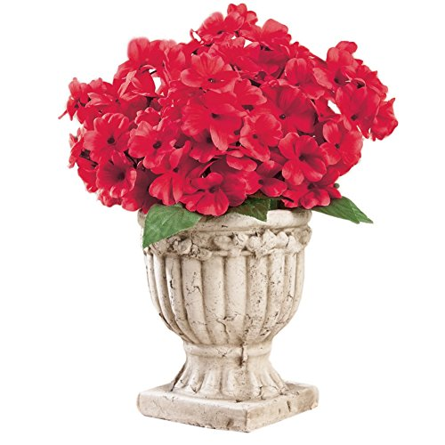 Floral Faux Impatiens Bushes Set