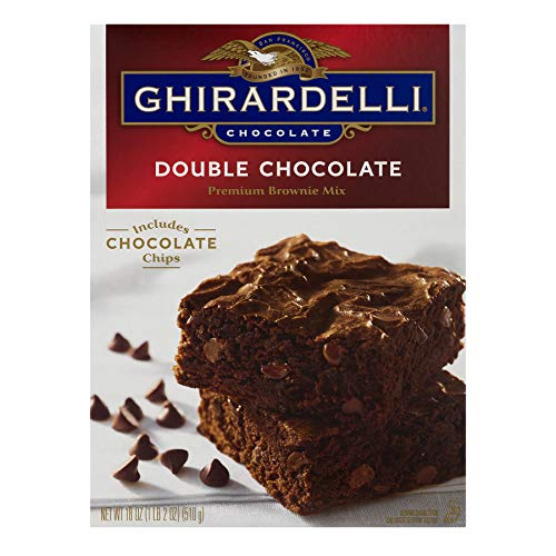 Ghirardelli Double Chocolate Brownie Mix, 18-Ounces (Cheese Sauce With Water Instead Of Milk)