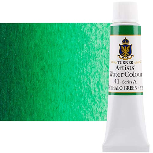 Turner Concentrated Professional Artists' Watercolor Paint 15ml Tube - Phthalo Green (Yellow Shade)