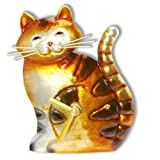 Deco Flair Cat Magnet Clock, Metal by Deco Flair